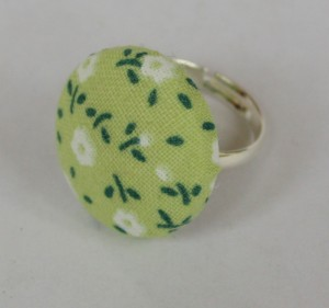 Green fabric covered ring