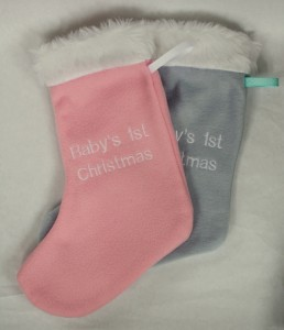 baby's 1st christmas stockings
