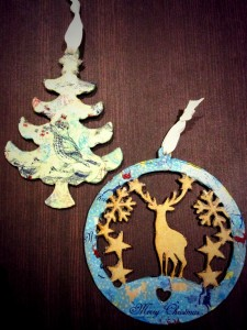 decoupage tree stag