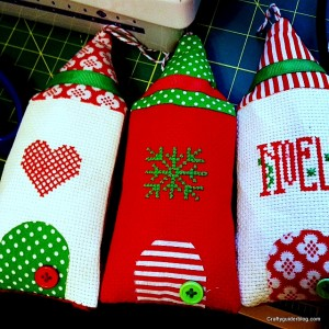 christmas cross stitch houses