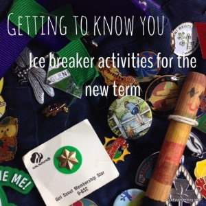 Getting to know you icebreaker activities for Guides