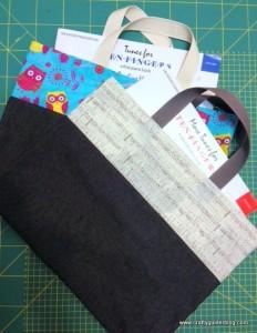 book bag tutorial owl and music bag finish