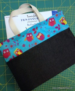 book bag tutorial owl bag finish