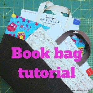 book bag tutorial title page