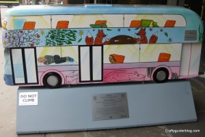 childhood on a bus sculpture