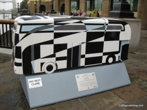 dazzle bus sculpture