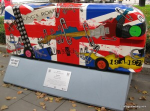 punk'ed bus sculpture