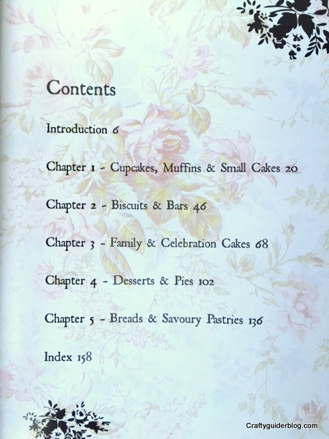 Gluten free baking book contents page