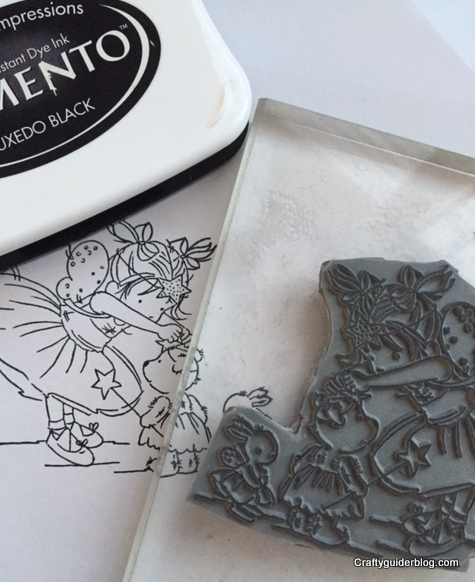 how to mount a stamp finished stamp