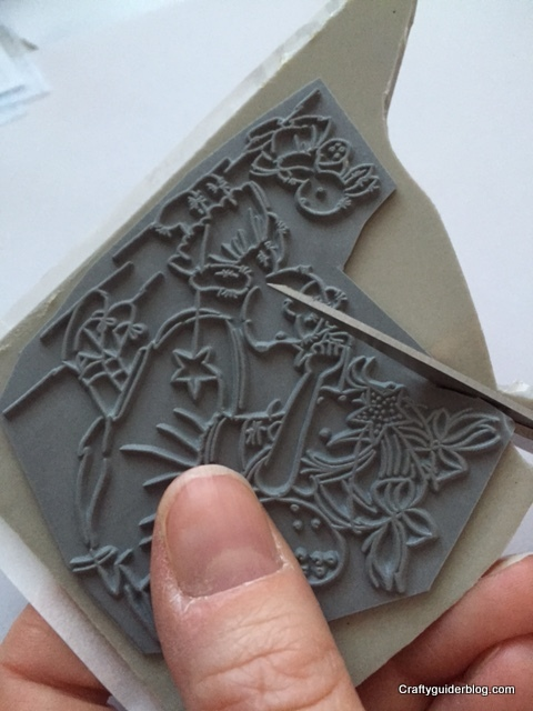 how to mount a stamp trim excess