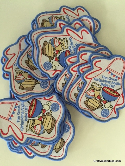 Girlguiding Anglia Bake Off badges