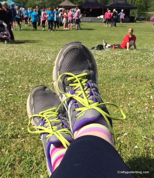 Race For Life feet up