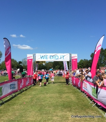 Race For Life finish