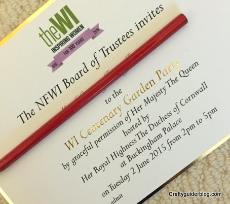 WI Centenary Garden Party invitation