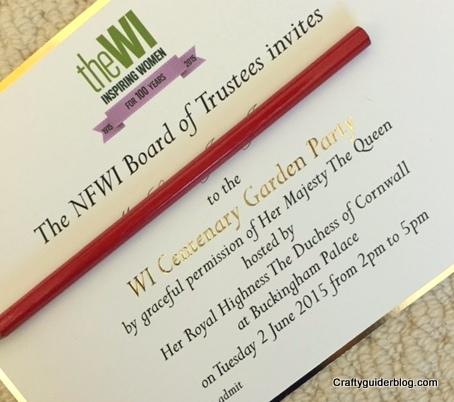 WI Centenary Garden Party invitation