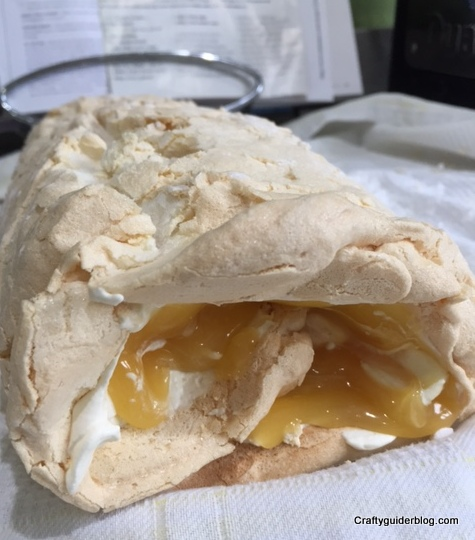 Great British Bake Off Lemon Meringue Roulade