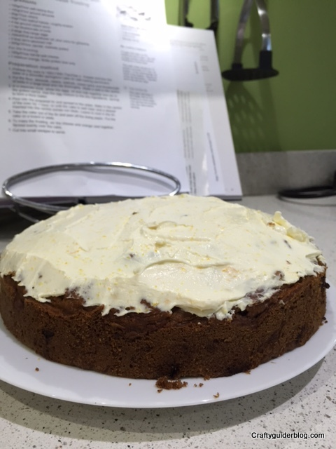 Great British Bake Off Sugar Free Carrot Cake Frosted
