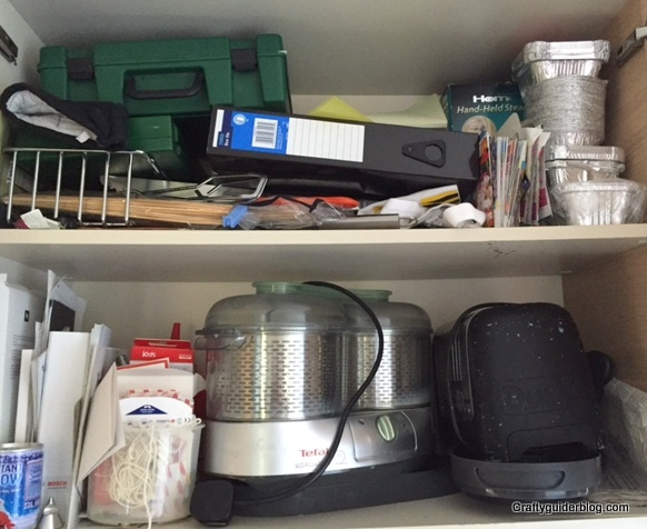 getting organised utility room cupboard before